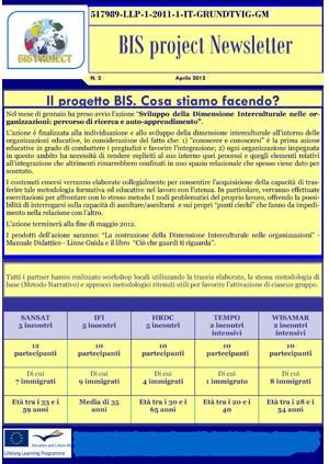 Newsletter progetto BIS n. 2
