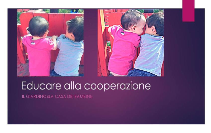 Educare alla cooperazione