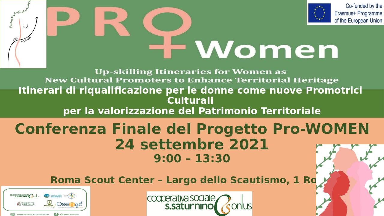 Conferenza finale del Progetto Pro-WOMEN