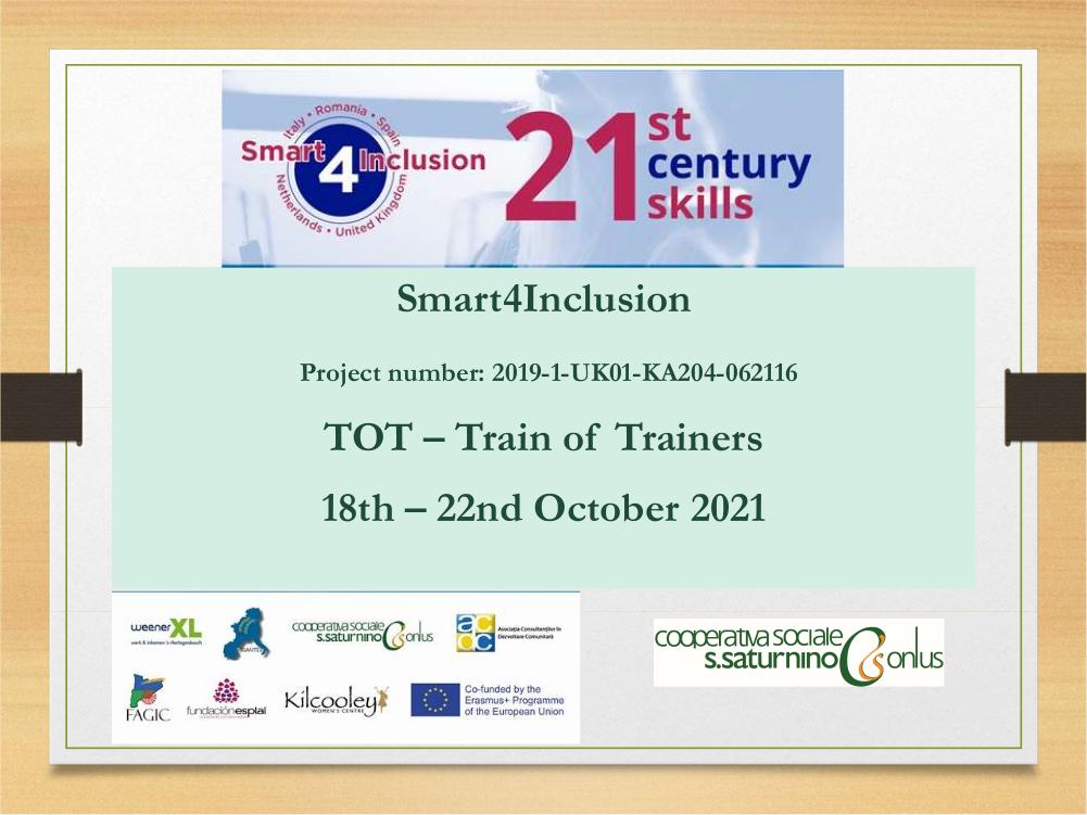 Benvenuti a Roma al team del progetto SMART4Inclusion!